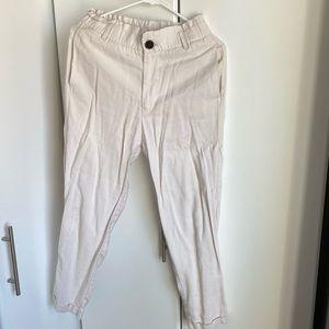 Zara paperbag ankle pants